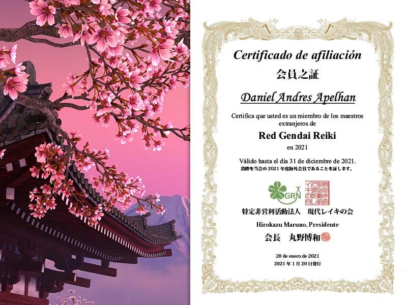 2021 Certificado de afiliación para Daniel Andres Apelhan
